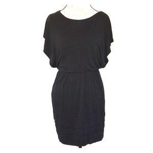 LUSH | Crop Sleeves Stretchy Blouson Style Dress